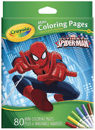 amazon com crayola ultimate spiderman mini coloring pages toys