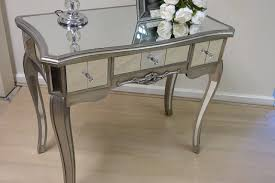Venetian Console Table Mirrored Console Table Venetian Glass Bedroom Dressing Silver