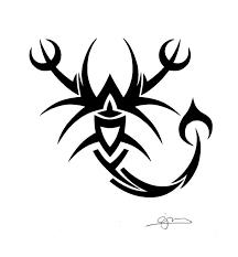 30 best tribal scorpion tattoo stencils images on pinterest