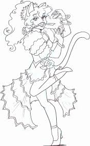 spanish dancer coloring pages
