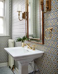 10 best wallpapered powder rooms from pinterest powder room