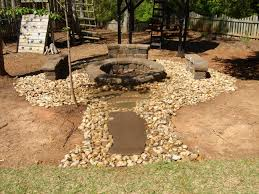 exterior exciting stone walkway with pea gravel patio and outdoor