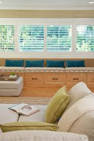 storage bench seat living room eclectic with window seat wood