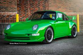 green porsche viper green 1996 porsche 993 rs tribute car rare cars for sale