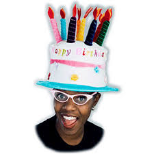 happy birthday hat happy birthday cake and candles velvet party hat party
