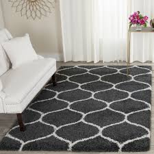 Modern Shag Area Rugs Interior Modern Gray And White Shag Area Rug For Mesmerizing