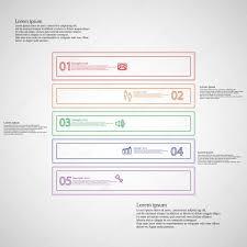 Vorlage Lorem Ipsum Form Infographik Vorlage Besteht Aus F禺nf Teilen Konturen