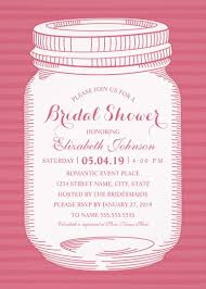 jar bridal shower invitations jar bridal shower invitations unique rustic country cards