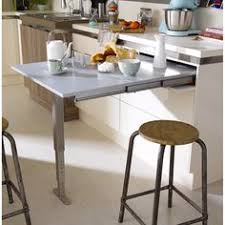 cuisine leroy merlin 2014 table rétractable stratifié aluminium mat l 95 x p 75 cm ep 140 mm