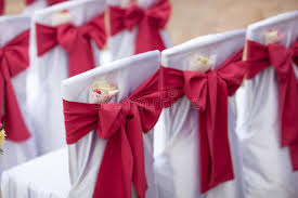 bows for wedding chairs big bows on wedding chairs stock image image 70472815