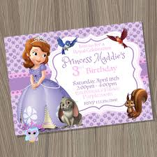 Princess Birthday Invitation Cards Sofia The First Invitation Princess Sofia Invitation