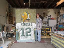green bay packers aaron rodgers quarterback art