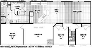 Floor Plans For Mobile Homes Single Wide Sectional Mobile Home Floor Plan The 6834 Spring View Select