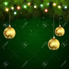 green wallpaper with branches of tree baubles and