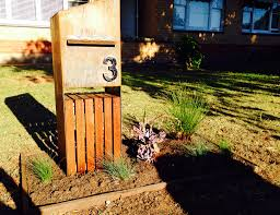 recycled timber sleepers letterbox garden pinterest letter