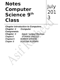 85595833 notes on 9th computer science by asif rasheed computer