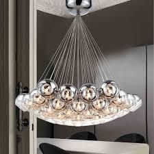 Hanging Chandelier Light Fixture Aliexpress Com Buy Modern Chrome Glass Balls Led Pendant