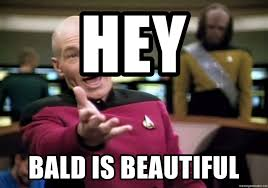 Meme Generator Star Trek - hey bald is beautiful bald men from star trek meme generator