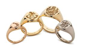 Monogram Signet Rings Signet Rings U2013 Mens U0026 Womens Gold U0026 Silver Myfamilysilver Com