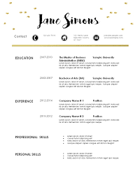 contemporary resume template free modern resume template