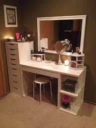 Makeup Vanity Ideas For Small Spaces Bathroom Top Elegant Makeup Vanity Furniture Regarding House Decor