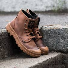 s palladium boots canada shoes palladium pa hi leather brown black autumn shoes