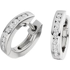 diamond earrings uk pair of cut diamond hoop earrings in 18ct white gold
