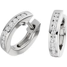 white gold hoop earrings pair of cut diamond hoop earrings in 18ct white gold