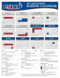 school year calendar 2017 2018 district calendar