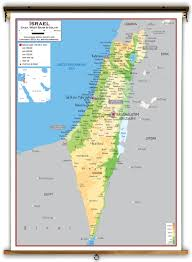 Asia Physical Map Israel Physical Educational Wall Map From Academia Maps