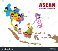 Map East Asia by Map Asean Asia South East Asia Stock Vector 278678645 Shutterstock