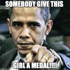 Medal Meme - pissed off obama meme imgflip