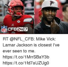 Mike Vick Memes - acc oddas rt mike vick lamar jackson is closest i ve ever seen to