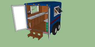 cer trailer kitchen ideas a mobile processing kitchen the irresistible fleet of bicycles