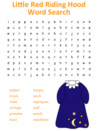 red riding hood word puzzles