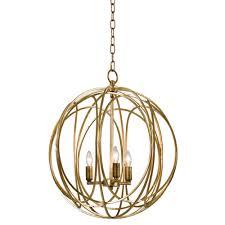 Cage Chandelier Lighting Regina Andrew Design Lighting Ofelia Chandelier Large Gold Leaf