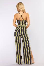 strapless wide leg jumpsuit wide leg jumpsuit navy yellow