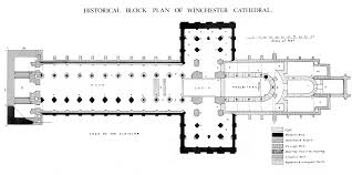 medieval winchester cathedral plans and drawings
