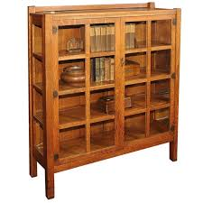 Arts Crafts Bookcase Arts And Crafts China Cabinet Bookcase Quaint Stickley Bros At
