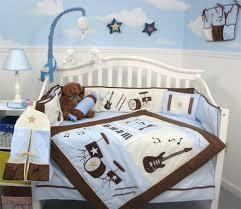 Blue Nursery Bedding Sets by Soho Designs Blue U0026 Brown Rock Band Baby Crib Nursery Bedding Set