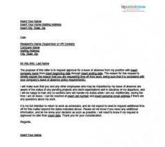 leave of absence letter to employee best resume gallery