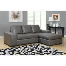 Best Deals On Sectional Sofas Charcoal Grey Bonded Leather Sectional Sofa Lounger Overstock