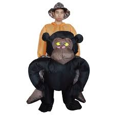 anself cute inflatable chimpanzee costume suit blow up sales