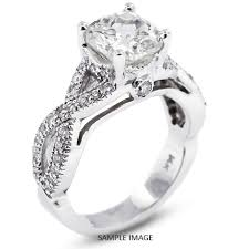twisted shank engagement ring 14k white gold split twist shank engagement ring with 3 81 total