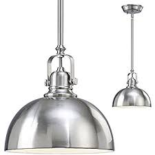 Brushed Nickel Glass Pendant Light Kitchen And Bar 1 Light Mini Pendant With Brushed Nickel Metal