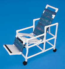 Shower Chair On Wheels Pvc Reclining Shower Chairs Healthline Medical