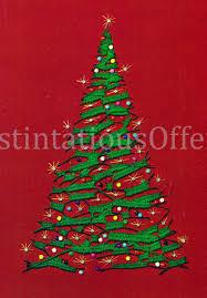 yuletide crewelembroidery kit lighted tree on