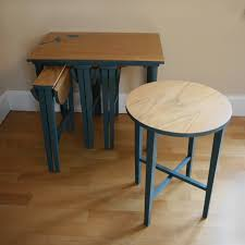 small nest of tables upcycled furniture supper cute nesting tables upcycle for rainy