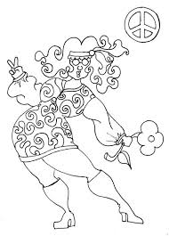 hippie halloween coloring pages adults chubby