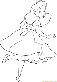 alice looking back coloring page free alice in wonderland
